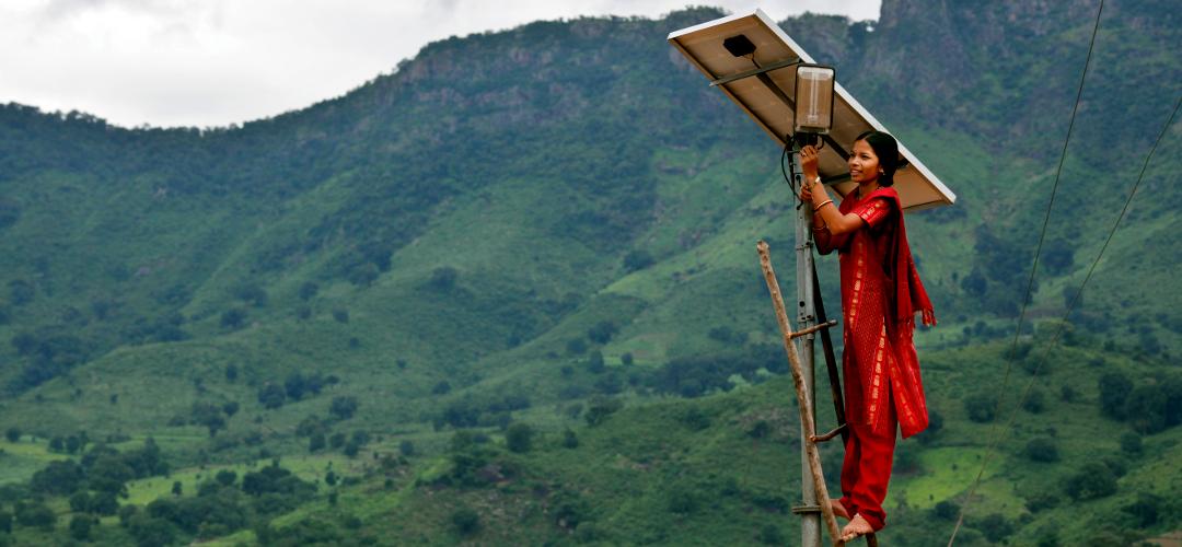 Dezentrale Energieversorung mit Solarpanel